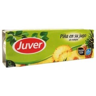 PIÑA EN SU JUGO JUVER pack 3